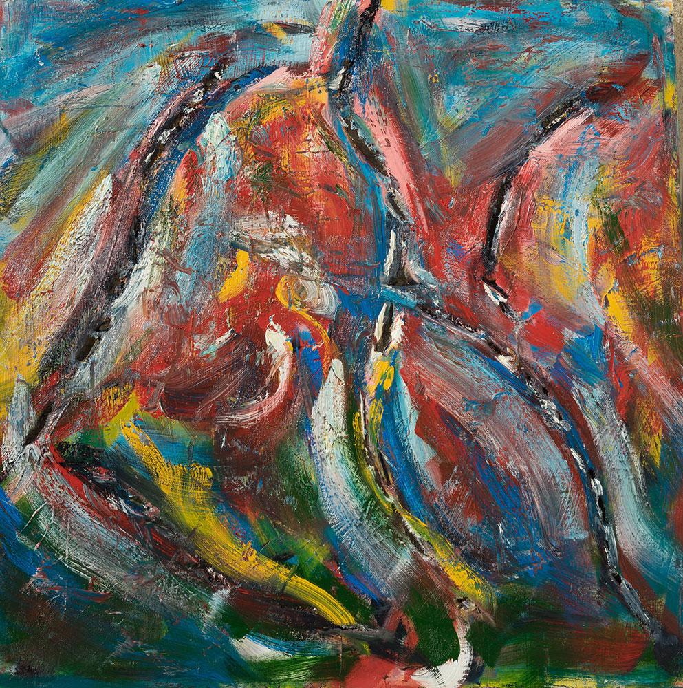Beach Party Oil on Canvas - 48 x 48