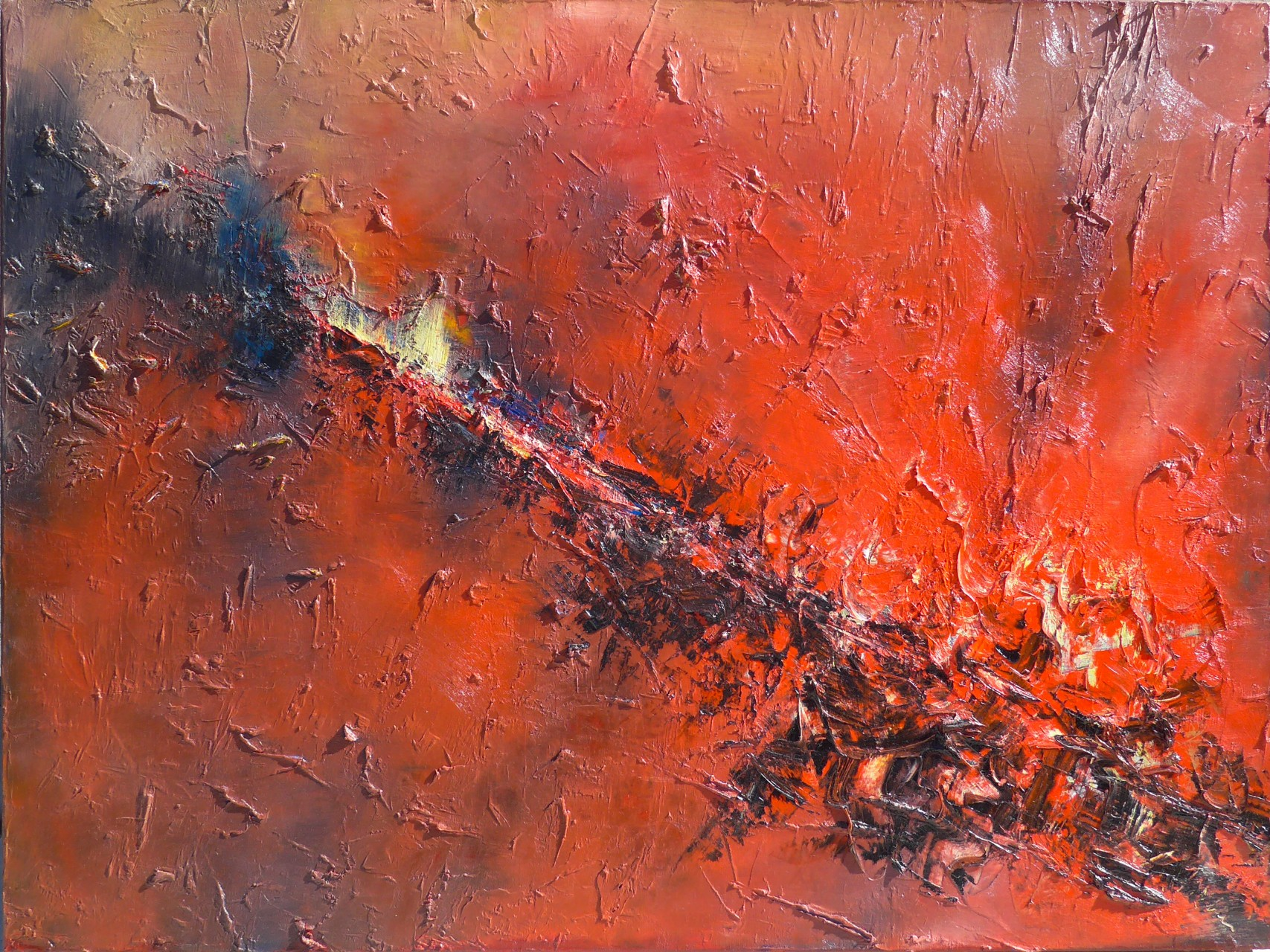 Hot Spot 30 x 40 Oil on Canvas
