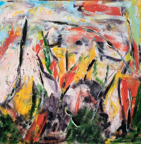 The Garden Oil on Canvas - 48 x 48