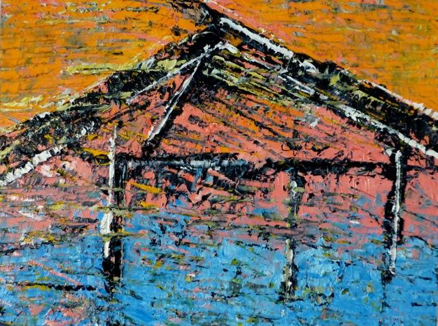 Rothko's No. 1 Beach House • 18 x 24 Oil on Canvas