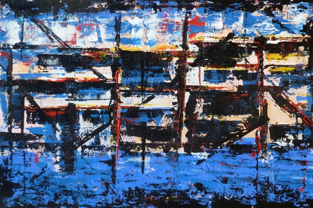 From Bauhaus To Your House • 24 x 36 Acryllic on Canvas