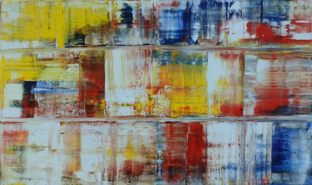 Painting In Triptych Style • 36 x 60 Oil on Canvas