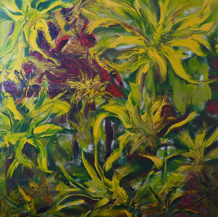 Wild Ginger • 48 x 48 Oil on Canvas