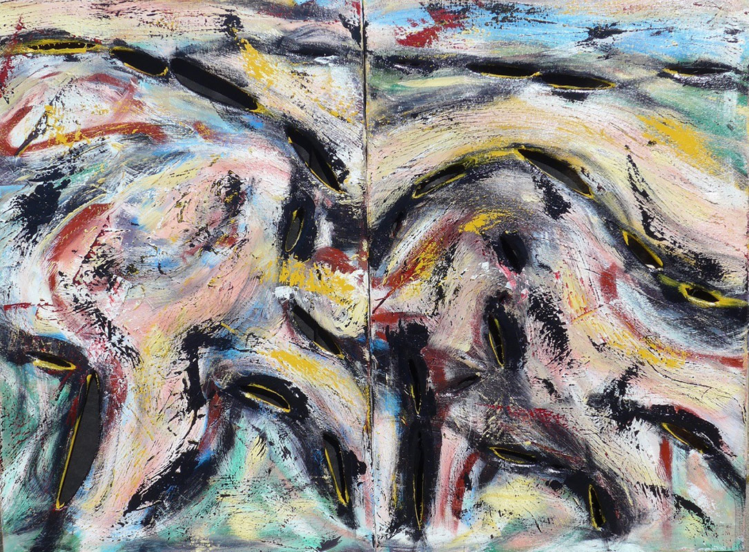 Minotaur Diptych Oil on Canvas - 36 x 48